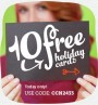 10 FREE HOLIDAY CARDS. HURRY TODAY ONLY!