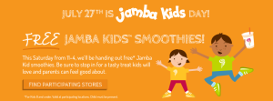 Jamba juice Free kids smoothie